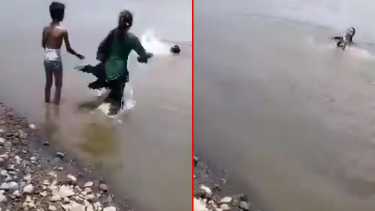 Eğlence felakete döndü! Küçük çocuk ailesinin suda boğulduğu anları cep telefonuyla saniye saniye kaydetti