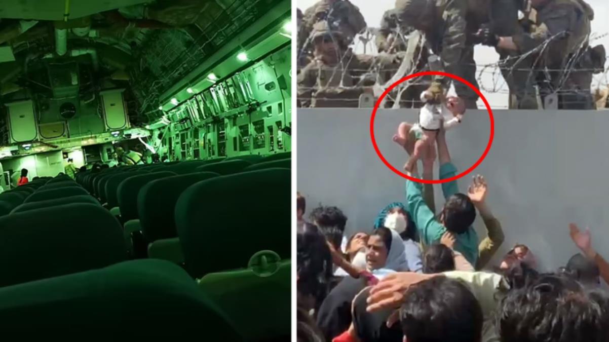 Eski İngiliz askeri ''Skandal'' diyerek paylaştı! Kabil'den kalkan tahliye uçağında sadece birkaç kişi varmış