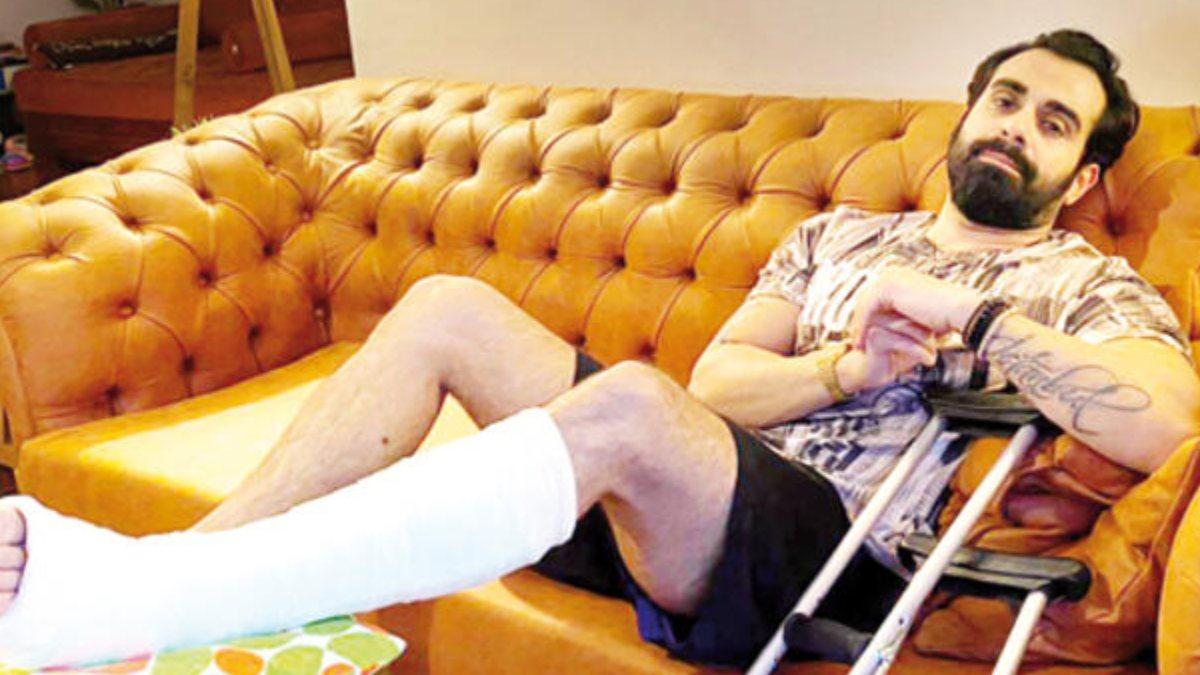 Gökhan Türkmen, ayağını kırdı