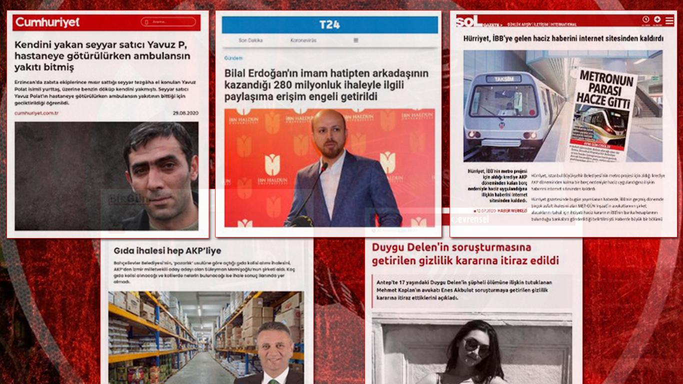 Gözlerden Kaçmasın: Türkiye'de Son Bir Haftada Erişim Engeli Getirilen Haberler