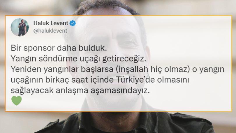 Haluk Levent: 'Bir Sponsor Daha Bulduk, Yangın Söndürme Uçağı Getireceğiz'