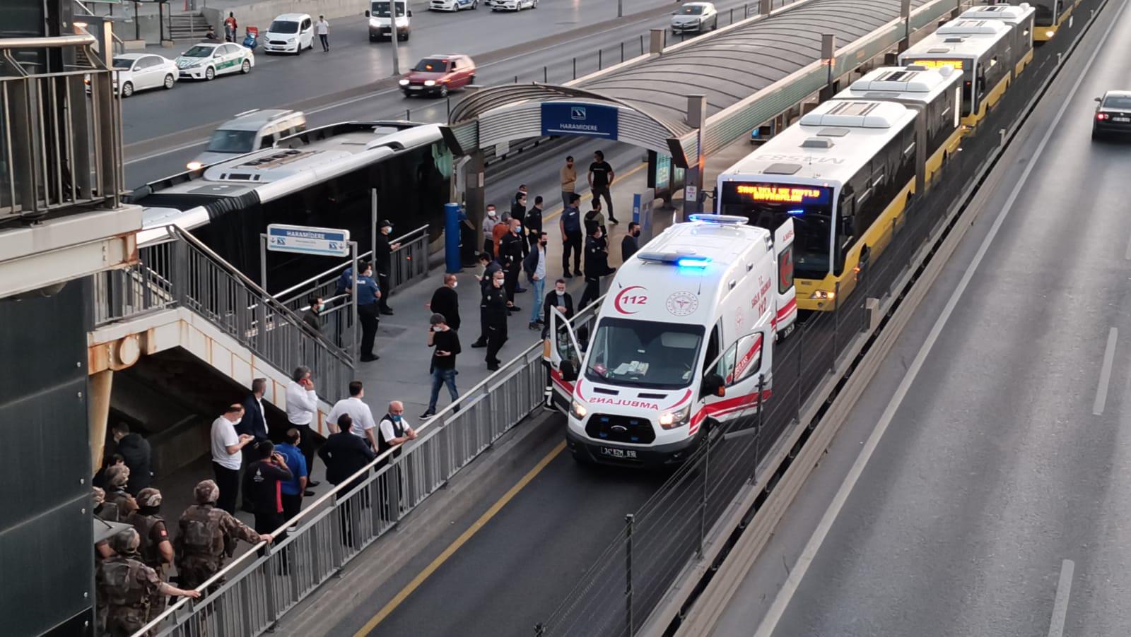 Haramidere Metrobüs Durağında Rehine Krizi!