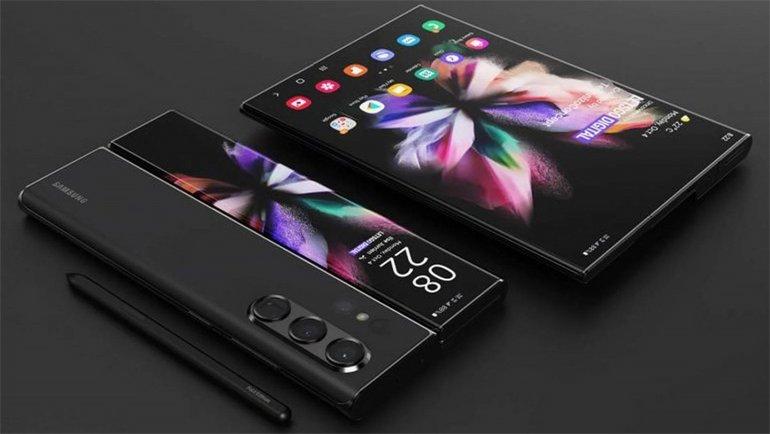 İki telefonu birleştiren konsept