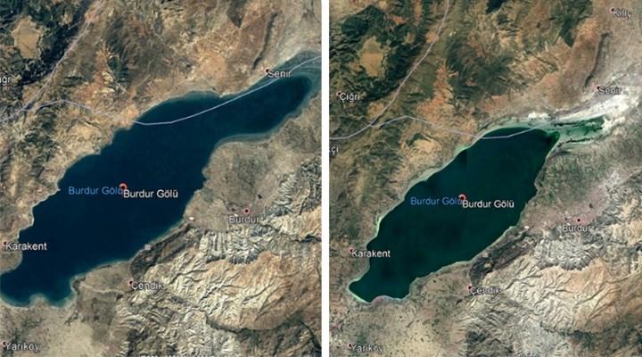 İlklim Değil, İnsan Faktörü: Burdur Gölü'ndeki Küçülme Uydu Görüntülerine de Yansıdı