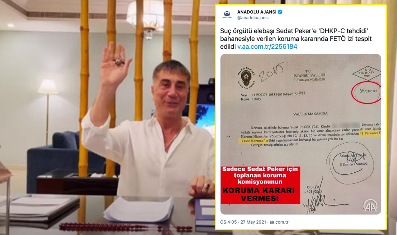 İmzalar Görüldü, Tweet Silindi: Anadolu Ajansı'ndan Sedat Peker Hatası