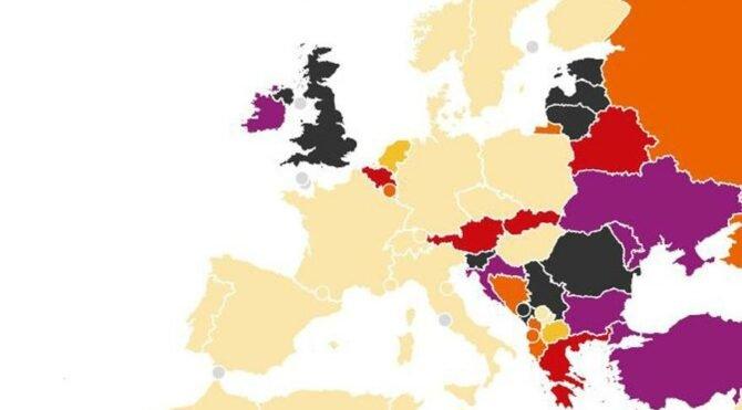 İngiliz basınından endişe veren Covid-19 haritası: Türkiye en yüksek ülkeler arasında