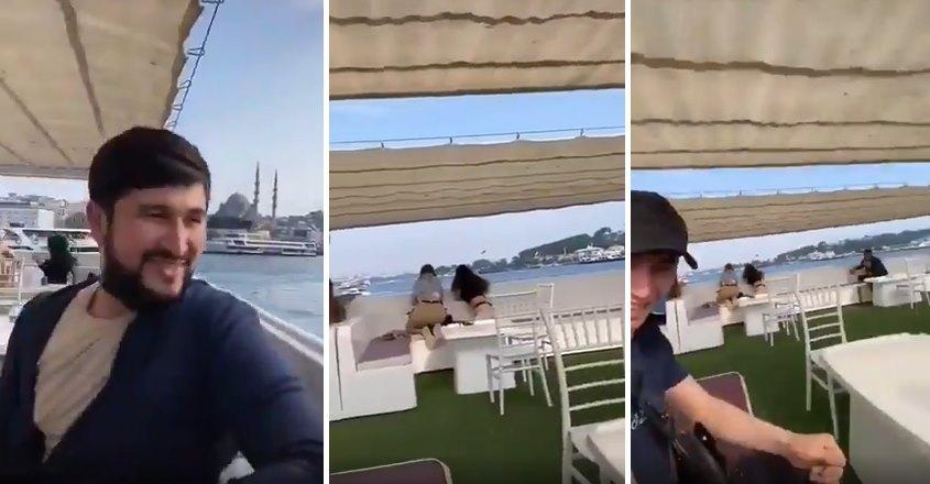 İstanbul'da Bir Feribotta İki Kadını Arkadan Çekerek TikTok'ta Paylaşan Yabancı Uyruklu Kişiler!
