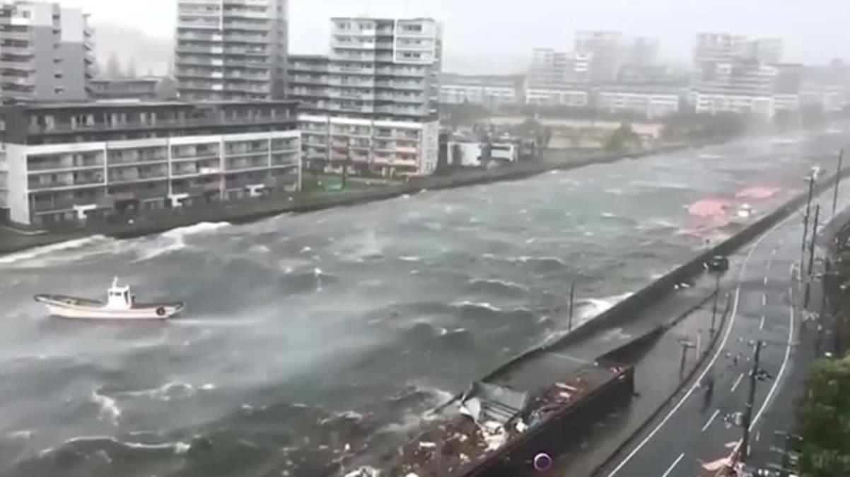 Japonya'da Chanthu Tayfunu alarmı Yetkililer, halka sağlam binalara sığınmaları çağrısında bulundu
