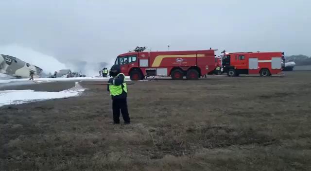 Kazakistan'da An-26 Tipi Uçak Düştü: 2 Kişi Kazadan Kurtuldu