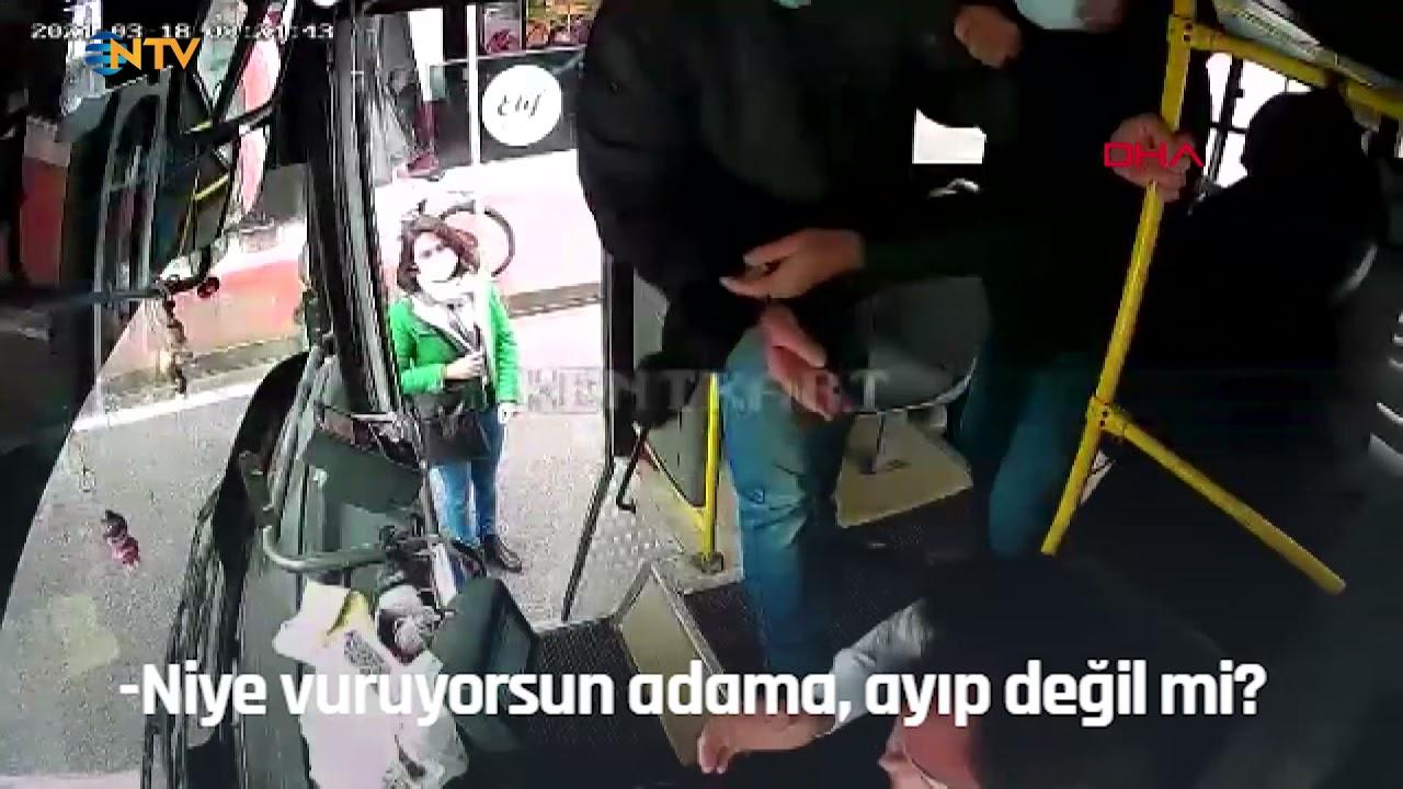 Kendisini Uyaran Otobüs Şoförüne Yumruk Atıp Tehdit Etti: 'Tanıdıklarım Var, Seni İşten Attırırım'