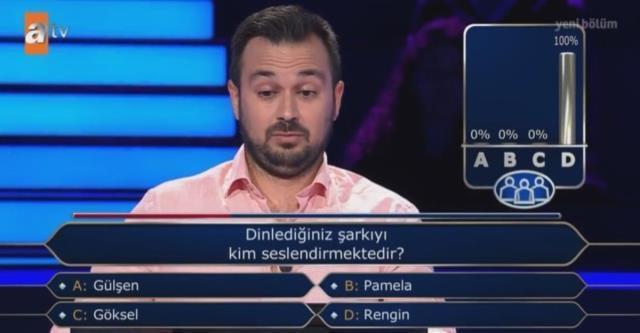 Kim Milyoner Olmak İster'de Yarışmacı, Seyirci Jokerini Kullandı: Seyircinin %100'ü de Aynı Seçeneği Seçti