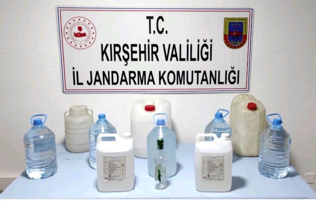 Kırşehir'de 55 litre sahte alkol ele geçirildi