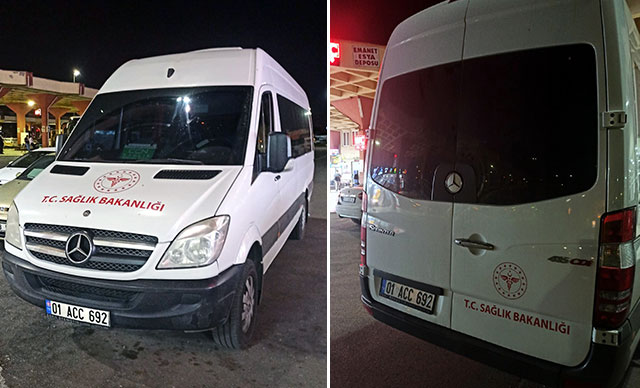 Kısıtlamada Minibüse 'Sağlık Bakanlığı' Yazdırıp Yolcu Taşırken Yakalandı