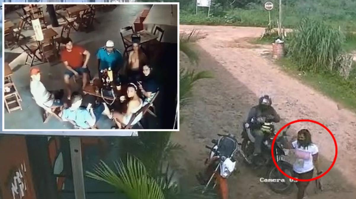 Kıskanç kadın, silahla bastığı mekanda kocasıyla içki içen kadını öldürdü! O anlar kamerada