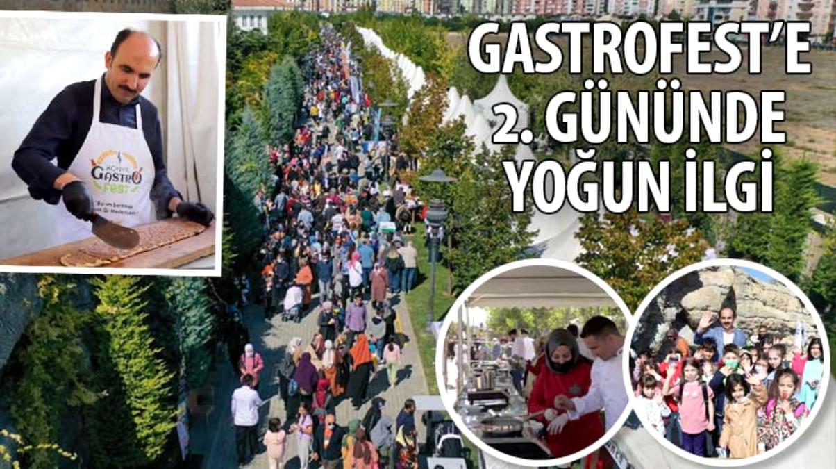 Konya GastroFest'e 2. Gününde Yoğun İlgi