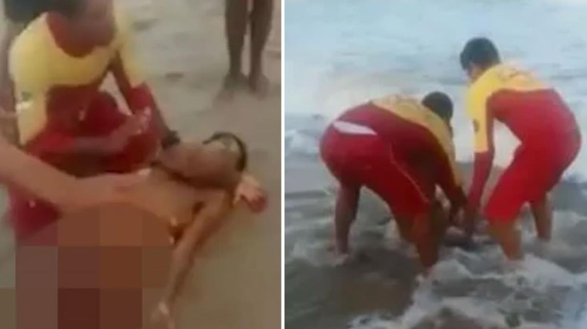 Korkunç görüntüler! Sudan bir anda fırlayan köpek balığı, yüzen gencin penisini parçaladı