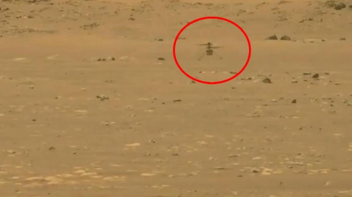 Mars'ta ilk kez bir helikopter uçuşu gerçekleştirildi, uçuş anına ilişkin görüntüler de paylaşıldı