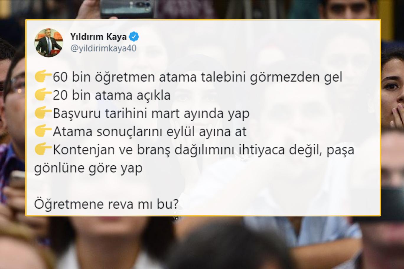 MEB'in Yapacağı Atama ve Kontenjan Dağılımı Kimseyi Memnun Etmedi: 'Öğretmene Reva mı Bu?'