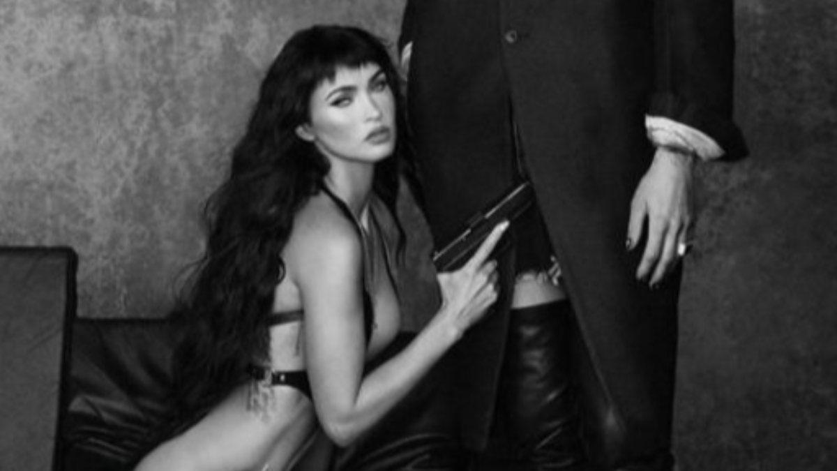 Megan Fox ve Machine Gun Kelly'den silahlı poz