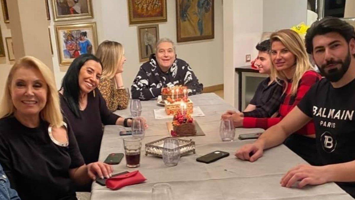Mehmet Ali Erbil, eski eşleriyle doğum günü kutlaması yaptı