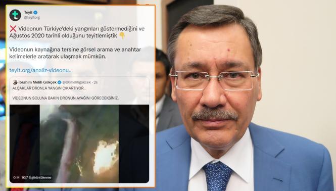 Melih Gökçek'in Yangın Manipülasyonu Teyit.org'a Takıldı