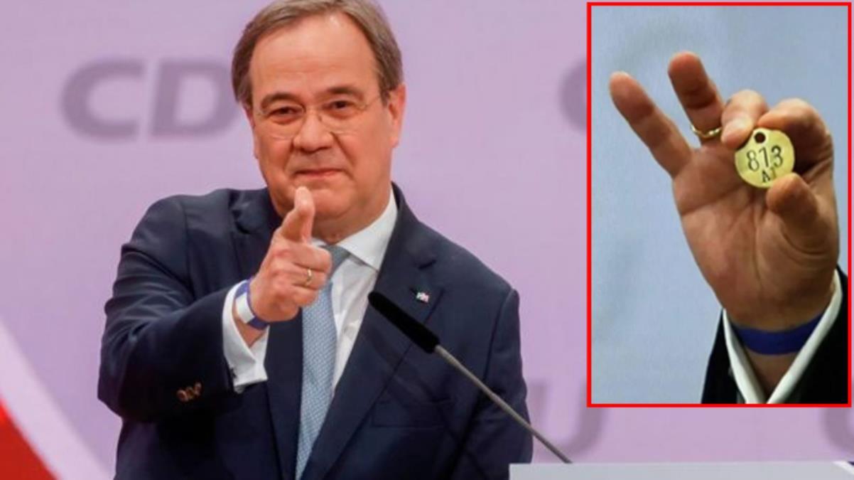 Merkel'in halefi Türk Armin'in kameralara poz verdiği 813 numaralı künyenin sırrı ortaya çıktı