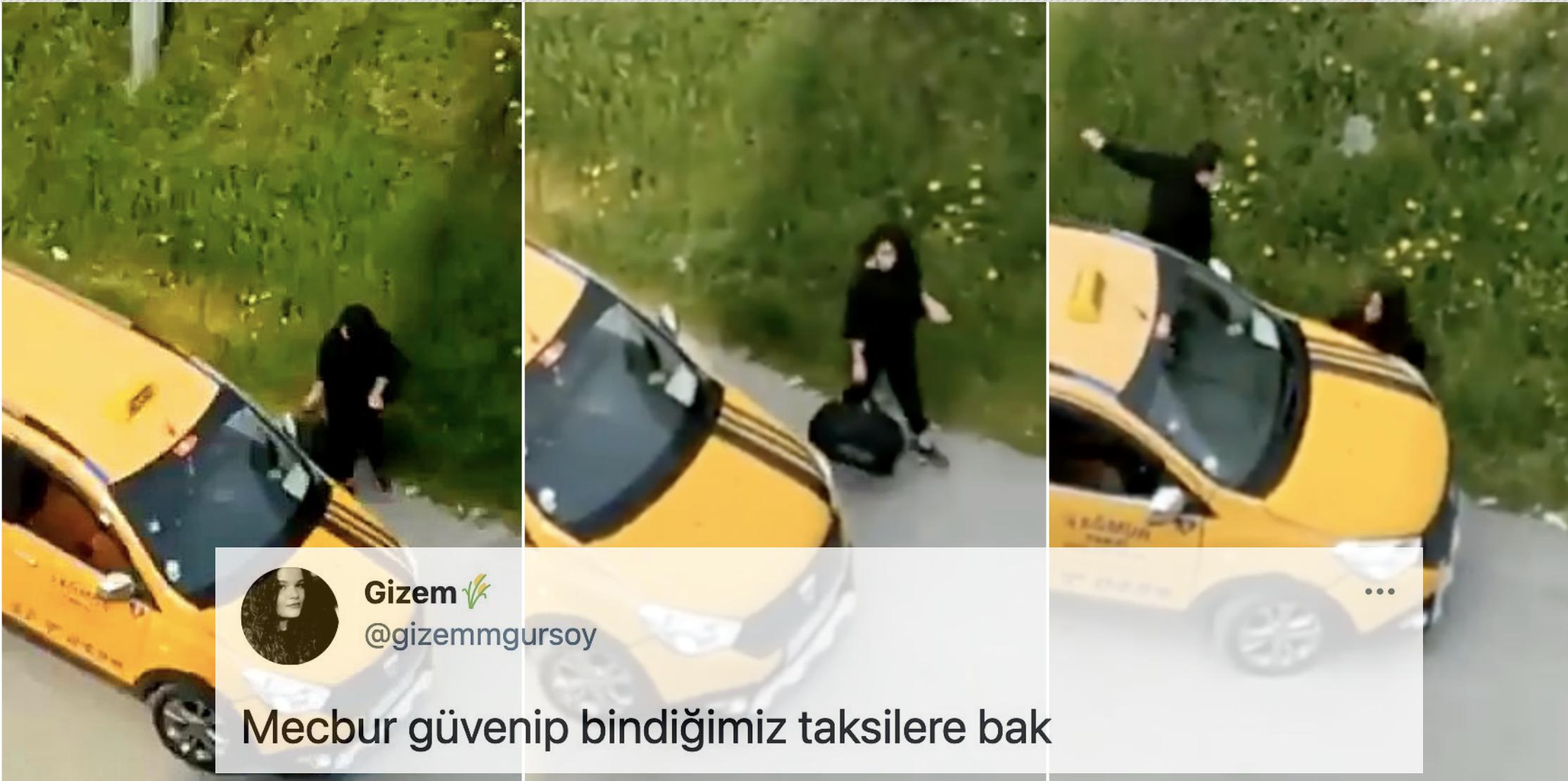 Mersin'de Bir Taksicinin Ulu Orta Bir Kadını Taciz Ettiği Görüntüler Kan Dondurdu