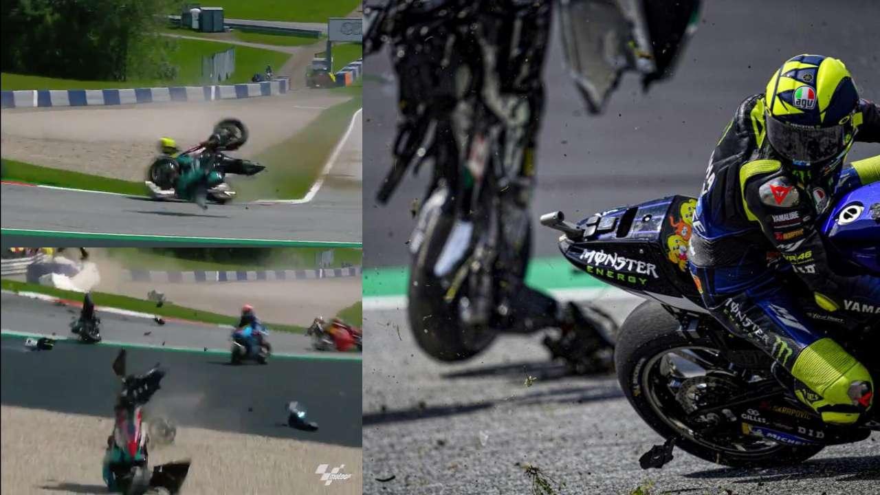 MotoGP'de Korkunç Kaza: Vinales ve Rossi Ucuz Kurtuldu
