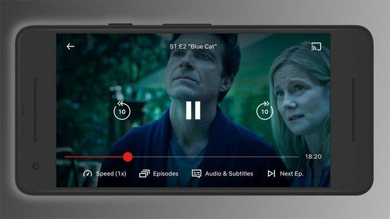 Netflix'ten Android'e hız işlevi