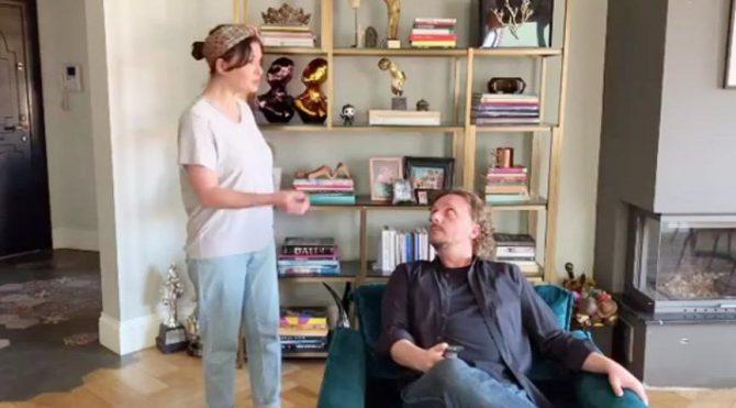 Nurgül Yeşilçay'dan esprili 1 Mayıs videosu…