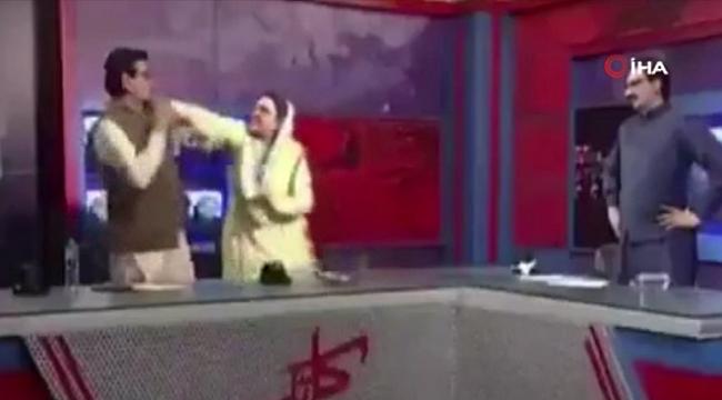 Pakistan'da Canlı Yayında Olay Çıktı: Eski Bakan Milletvekiline Tokat Attı