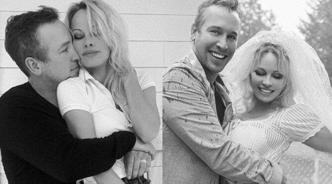 Pamela Anderson, inşaat ustası sevgilisiyle evlendi