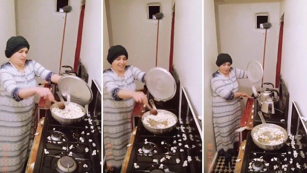 Pilav Karıştırır Gibi Mısır Patlatan Ablanın İzlerken Sinir Krizi Geçireceğiniz Görüntüleri