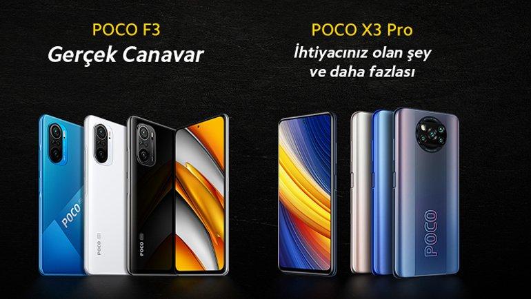 POCO F3 ve POCO X3 Pro çıkıyor!