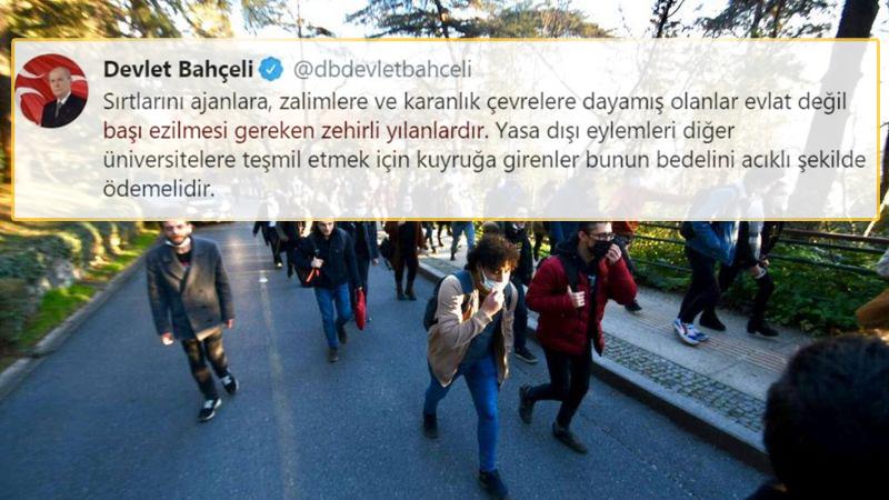 Protestoculara 'Başı Ezilmesi Gereken Zehirli Yılanlar' Demişti: Twitter, Bahçeli'nin Paylaşımını Sildi!