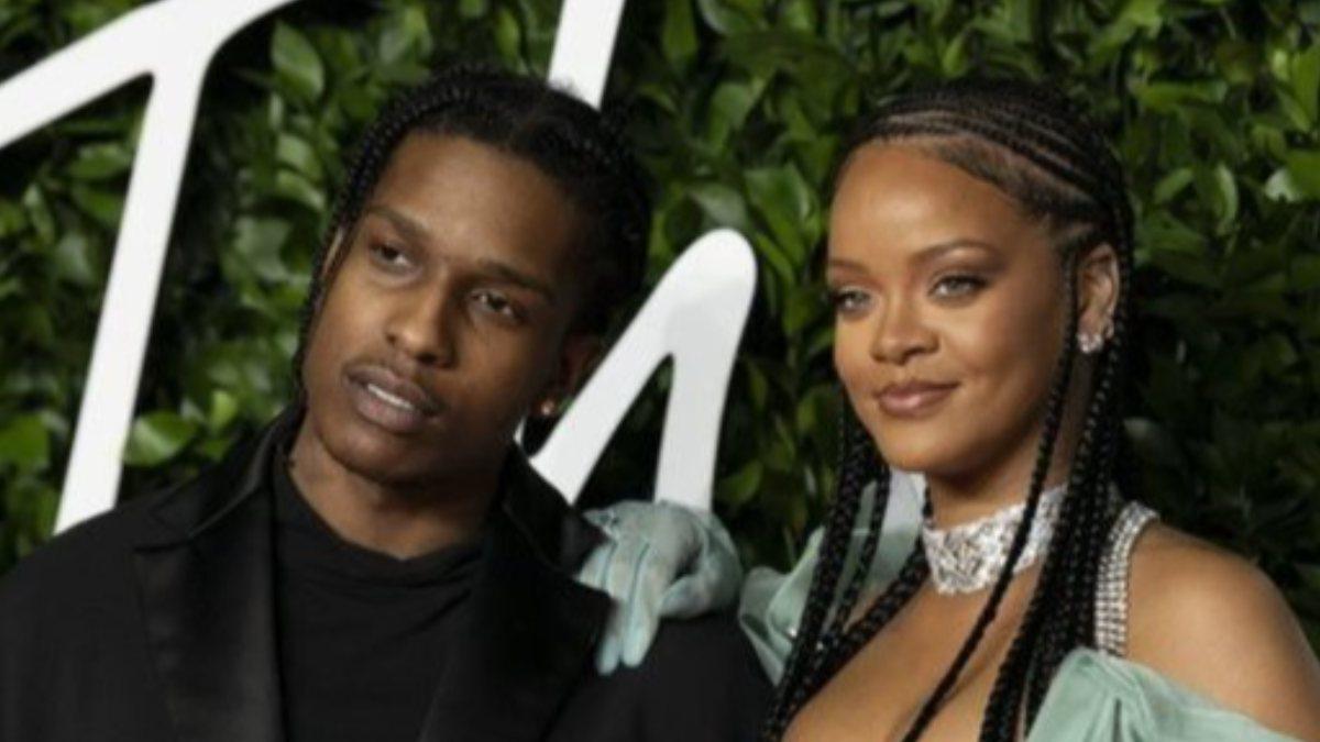 Rihanna ile ASAP Rocky el ele