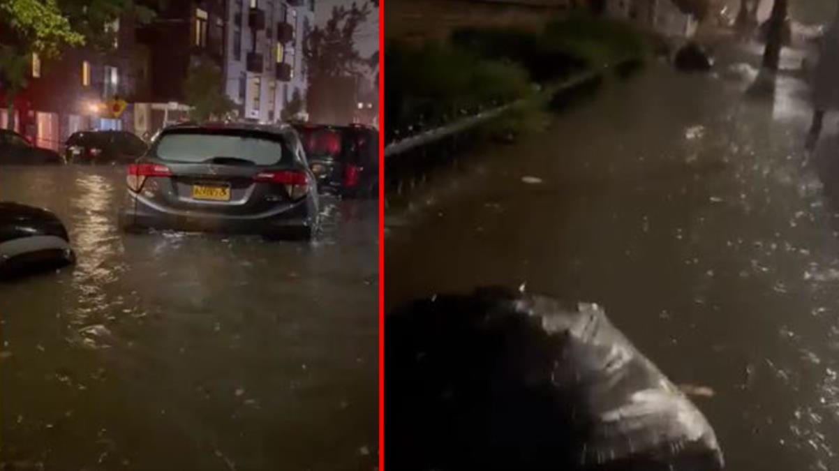 Sel nedeniyle OHAL ilan edilen New York'tan yeni görüntüler geldi