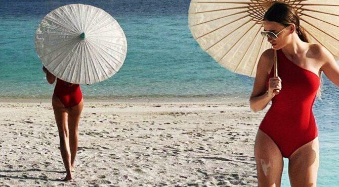 Serenay Sarıkaya'nın Maldivler tatili devam ediyor