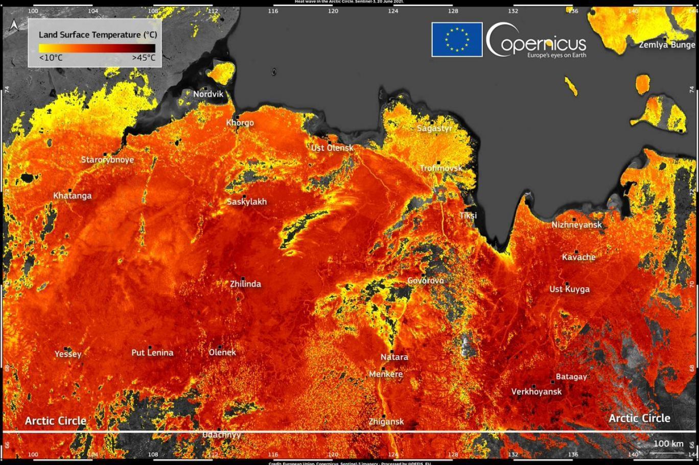 Soğuklarıyla Ünlü Sibirya'da Yüzey Sıcaklığı 48 Dereceye Ulaştı