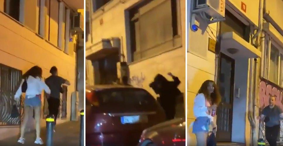 Sokaktan Geçen Arabadan Gelen Yüksek Sesli Müziğe Kaldırımda Dans Ederek Eşlik Eden İnsanların Müthiş Anları