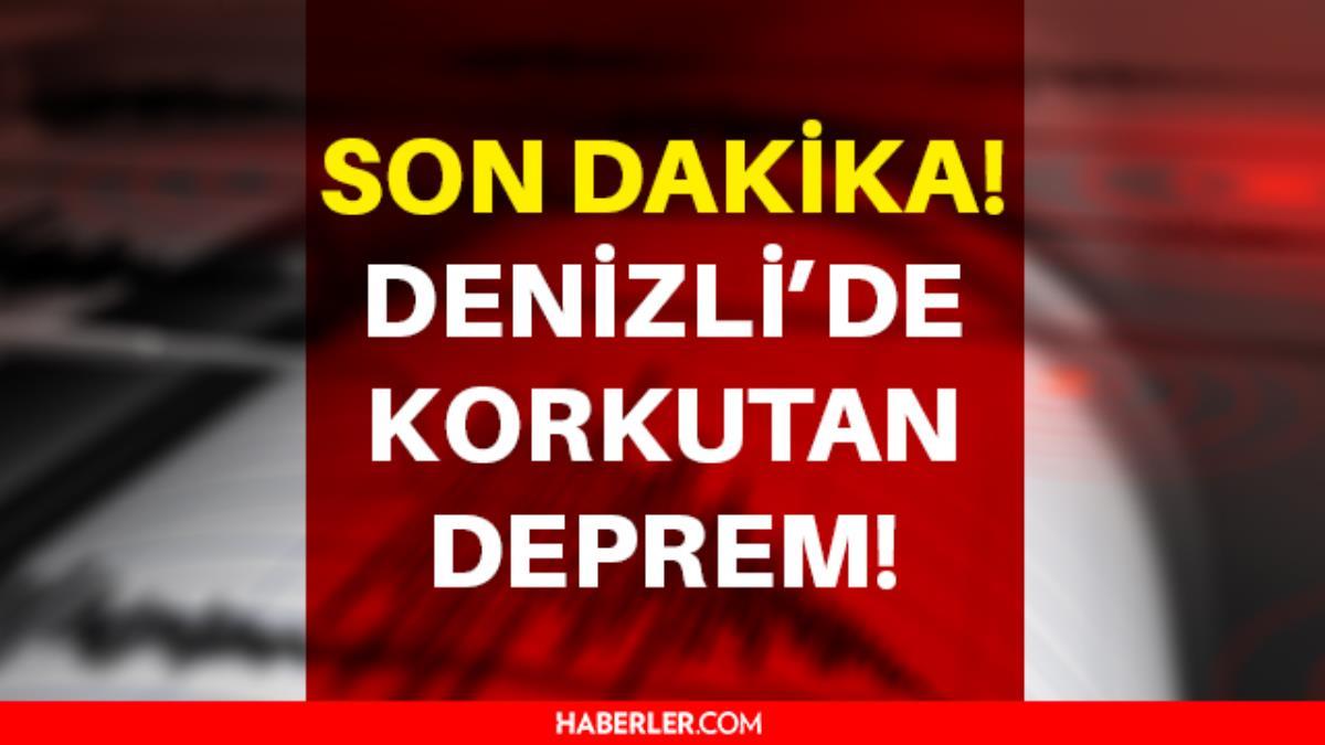 Son Dakika: Denizli deprem mi oldu? 1 Ekim Denizli'de kaç şiddetinde deprem oldu? Türkiye'de olan depremler!