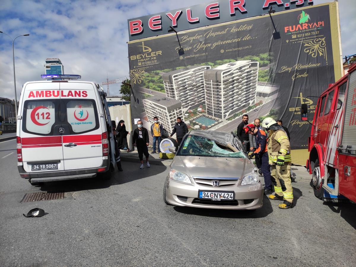 Son dakika haber | Esenyurt'taki trafik kazasında 1 kişi yaralandı