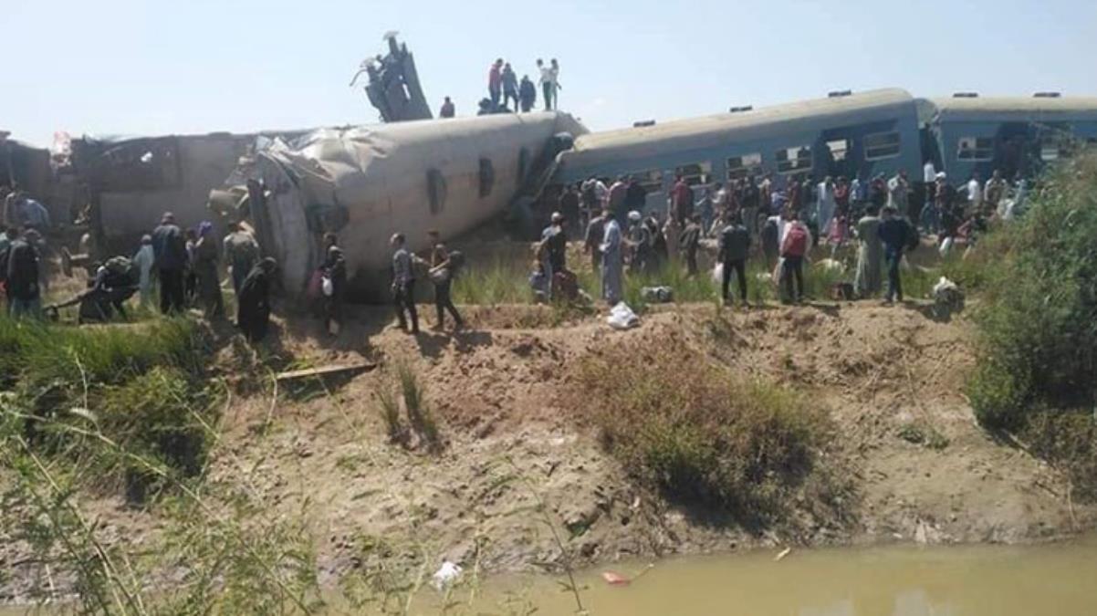 Son Dakika! Mısır'da iki tren çarpıştı; kazada 32 kişi hayatını kaybetti, 66 kişi yaralandı