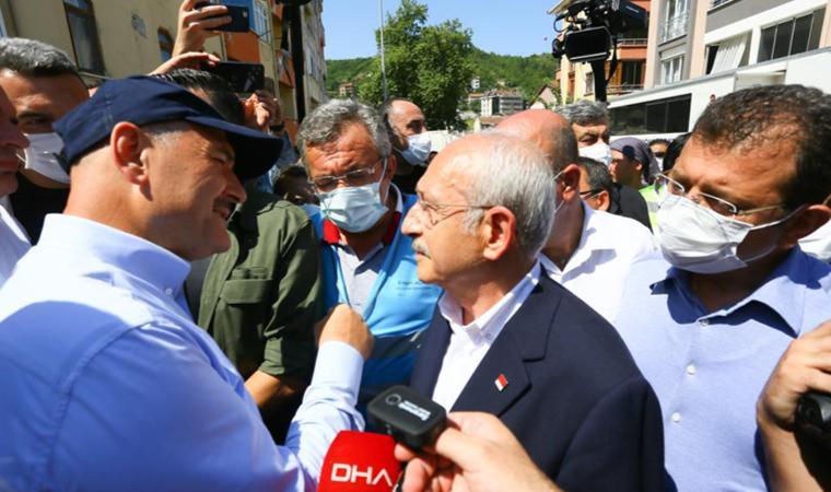 Süleyman Soylu, Kılıçdaroğlu ve Engin Altay'ı Sel Bölgesinde Karşıladı: 'Siz Oradakileri Kayıp Saymıyorsunuz'