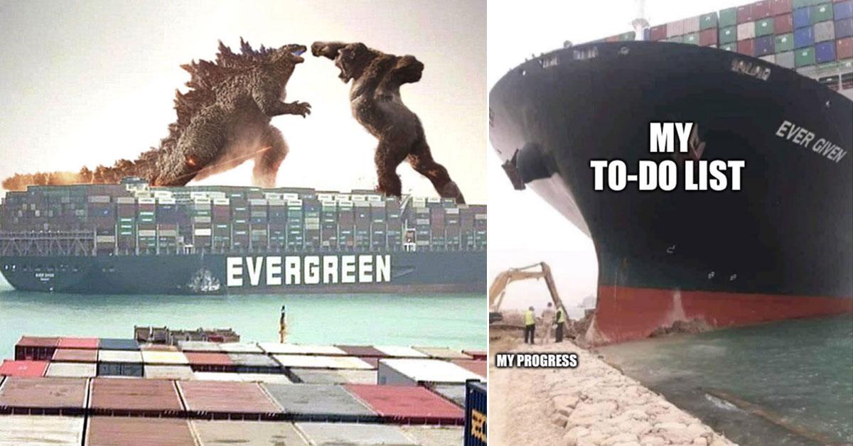 Süveyş Kanalı'nı Tıkayan Geminin Görüntüleri Sosyal Medyada Viral Oldu