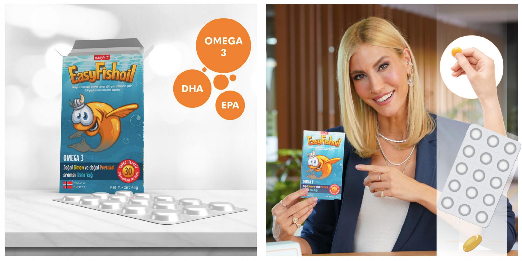 Tek Tek Paketlenen Yeni Formulüyle Kullanan Annelerin % 95'inin Memnun Kaldığı Balık Yağı EasyFishoil ile Tanışın!