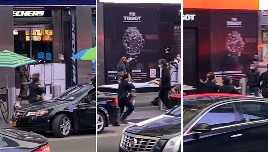 Times Meydanı'ndaki Silahlı Saldırıda Yaralanan 4 Yaşındaki Çocuğu Kucağında Koşarak Ambulansa Taşıyan Polis