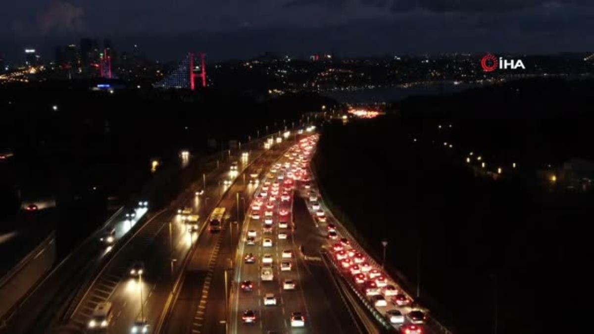 Trafikte pazartesi mesaisi yoğun başladı