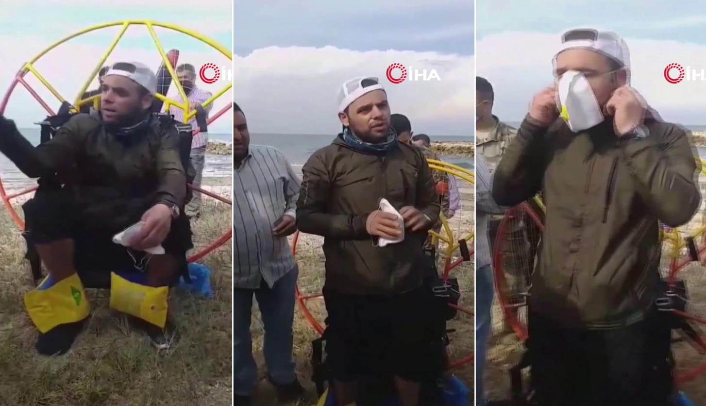 Türkiye'den Havalanıp Rüzgara Kapılan Paraşütçü, Lübnan Sahiline İndi