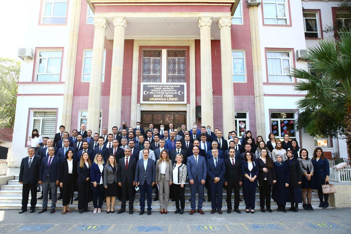 Türkiye'nin Bakü Büyükelçisi Bağcı, Bakü Türk Eğitim Kurumu öğretmenleriyle bir araya geldi